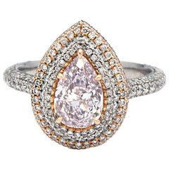 GIA Certified 1.29 Carat Pink Diamond Ring
