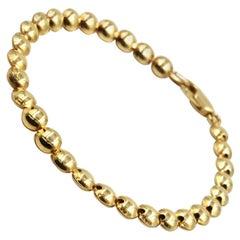 Circle Link Bracelet 14 Karat Yellow Gold
