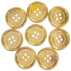 M. Gerard Paris Set of Eight Vintage Gold Buttons