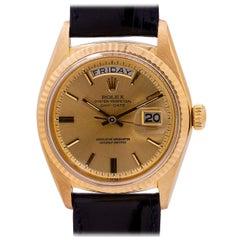 Rolex Yellow Gold Day Date self winding wristwatch Ref 1803, circa 1968