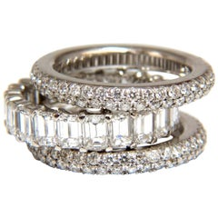 Stackable diamond bands 10.50ct stackable rings size F.G.VS 14gm Platinum & 14kt