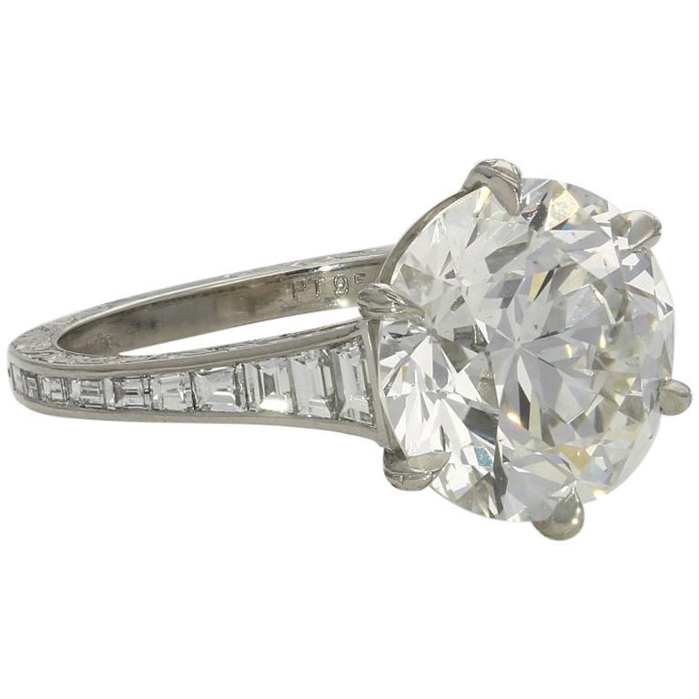 Hancocks 5.07 Carat Old European Brilliant Cut Diamond Ring