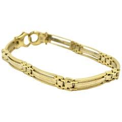 14 Karat Two-Tone Gold Custom Link Bracelet