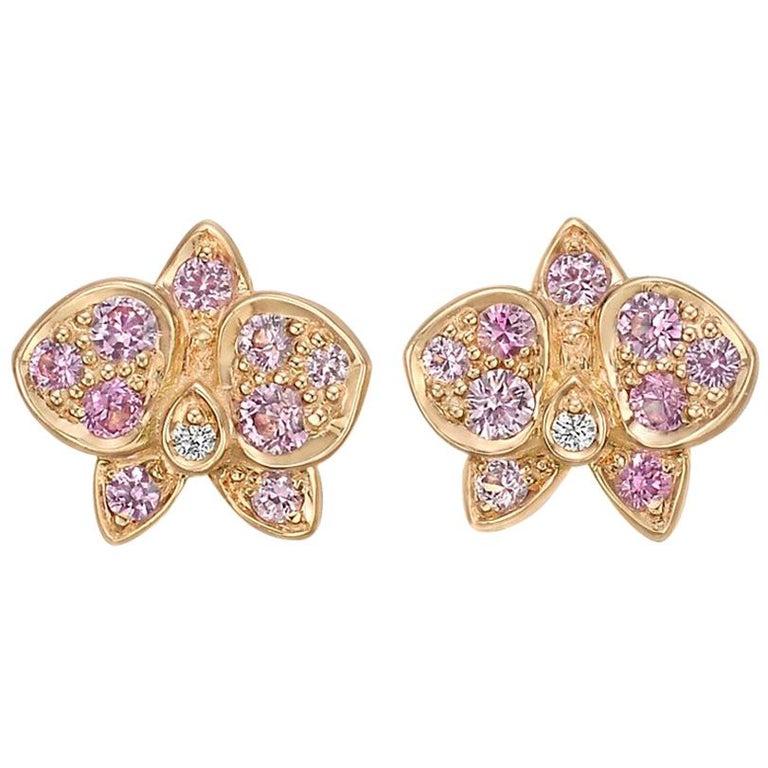 """Cartier Pink Sapphire Diamond """"Caresse d'Orchidées"""" Earrings"""