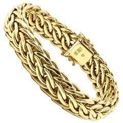 Cable Chain Style Bracelet 14 Karat Yellow Gold