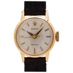Rolex Ladies Yellow Gold Precision Dress Model manual wind wristwatch, c 1950s