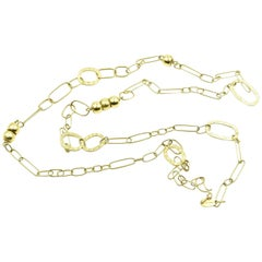 UnoAErre 18 Karat Yellow Gold Open Link Necklace
