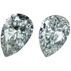 GIA Certified 10.05 Carat Pear Diamonds