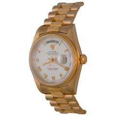 Rolex Yellow Gold President Day-Date Oyster Automatic Wristwatch Ref 18078