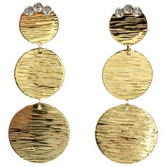 Roberto Coin 18 Karat Triple Disc Dangle Earrings