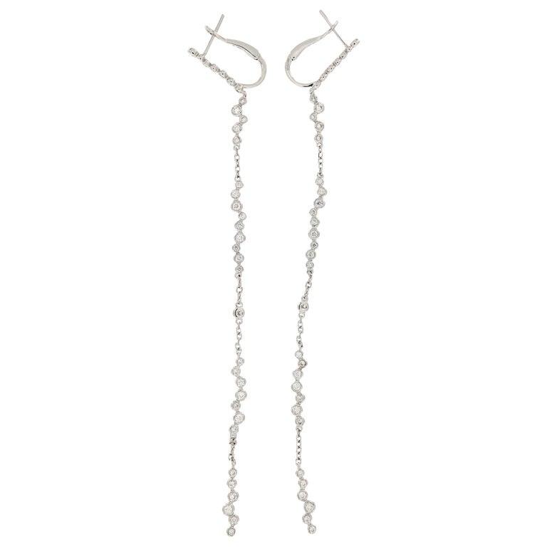Shoulder Duster Diamond Dangle Earrings