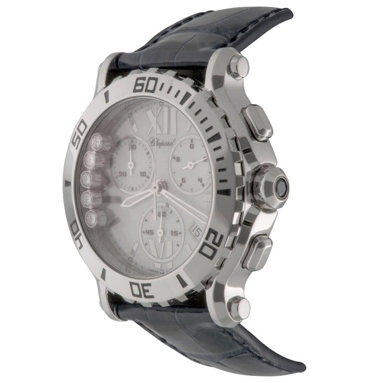 Chopard Ladies Stainless Steel Happy Sport Floating Diamonds Quartz Wristwatch