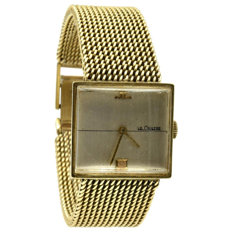 LeCoultre Yellow Gold manual wind Wristwatch