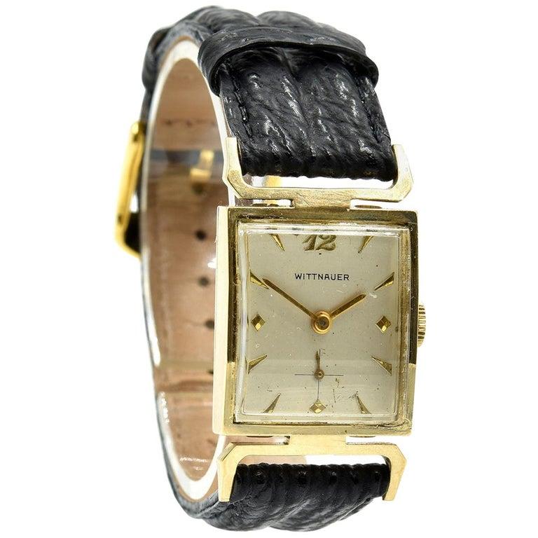 Wittnauer Yellow Gold manual wind Wristwatch