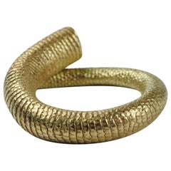Emer Roberts Solid 18 Karat Gold Rat Tail Ring