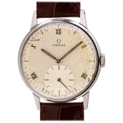 Omega Stainless Steel Manual Wind Dress Wristwatch, circa 1944