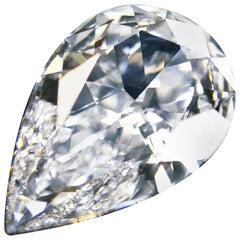 GIA Certified 20.04 Carat Pear Diamond