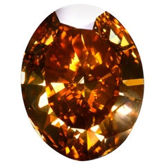 GIA Certified 30.03 Carat Diamond Fancy Intense Orange