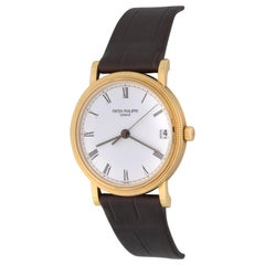 Patek Philippe Yellow Gold White Dial Calatrava Automatic Wristwatch