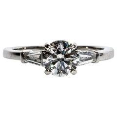 Bulgari Platinum Engagement Ring with 1.01 Carat Round Brilliant Centre