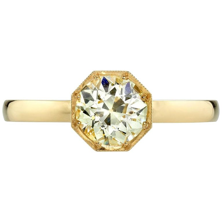 Old European Cut Diamond Solitaire Engagement Ring