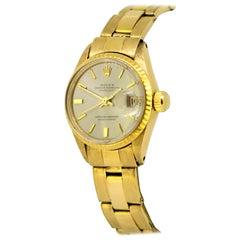 Rolex, Oyster Perpetual Datejust Full 18 Karat Yellow Gold Women, 1970-1979