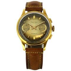 Vintage Kolster Watch, Incabloc, 18 Karat, Gold Manual Winding, Men, 1960s