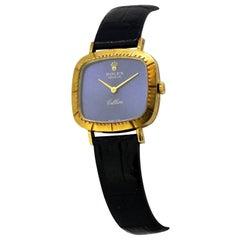 """Vintage Ladies Rolex """"Cellini"""" Wristwatch in 18 Karat Yellow Gold, circa 1970s"""