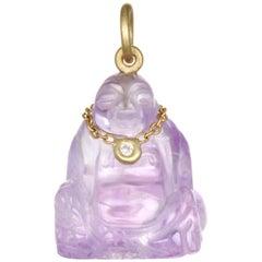 Faye Kim Amethyst Diamond Buddha Pendant