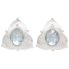 Silver Sky Blue Topaz Earrings