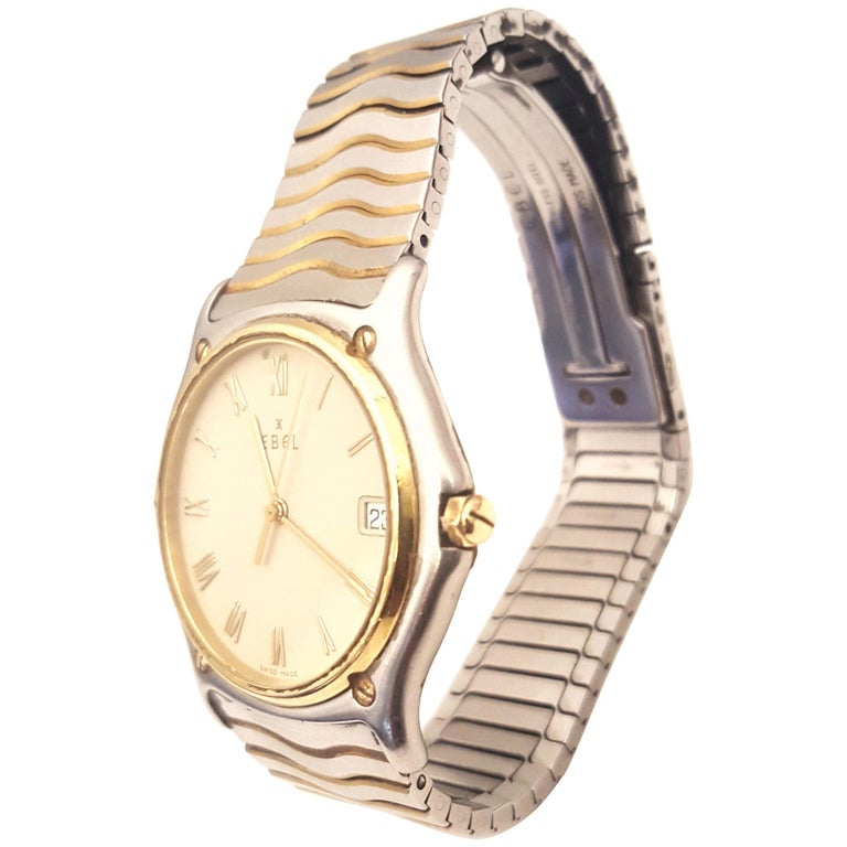 Ebel Yellow Gold Stainless Steel Wave Wristwatch