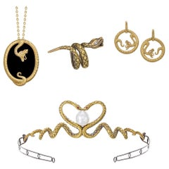 "Wendy Brandes Designer 4-Piece ""Queen of Scots"" Snake Jewelry Collection"