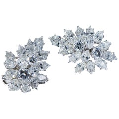 Platinum Diamond Clip-On Earrings