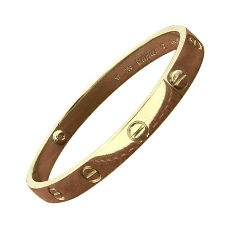 Cartier Love Bangle Bracelet in Yellow Gold