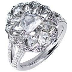 Studio Rêves 0.70 Carat Trillion Rose Cut Ring