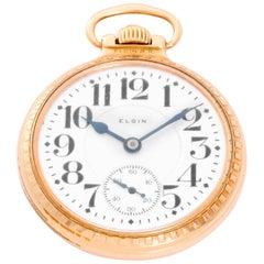 Elgin Gold filled Veritas Rail Road Manual Pocket Watch