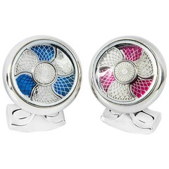 Deakin & Francis Blue and Pink Color Change Cufflinks