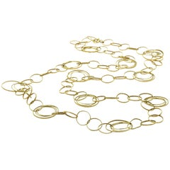 Circle Link 14 Karat Yellow Gold Necklace