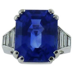 David Webb Platinum 18.93 Carat Sapphire and Diamond Ring