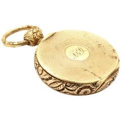 Vintage 14 Karat Yellow Gold Locket Pendant 17.93 Grams