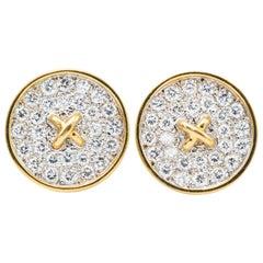 Tiffany & Co. 18 Karat Gold Button Earring