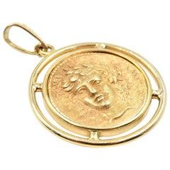 Coin Pendant 14 Karat Yellow Gold