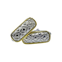 Luca Jouel Gold and Silver Patterned Cuff Links