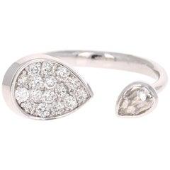 0.61 Carat Diamond Ring 14 Karat White Gold