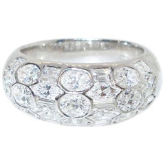 Beaudry Fancy Cut Diamond Gold Band Ring