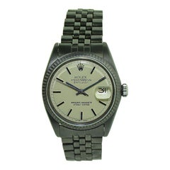 Rolex Datejust with Custom and Original Dial with Carbonized Finish 1969 or 1970