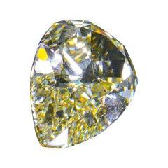 GIA Certified 5.06 Carat Fancy Yellow Pear Cut Diamond