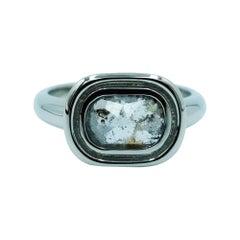 Luca Jouel Unique Rose Cut Diamond Dress Ring in Platinum