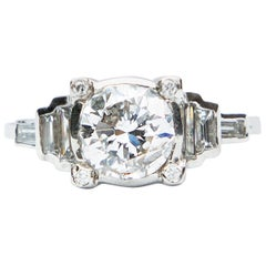 Platinum Art Deco Diamond Solitaire Ring