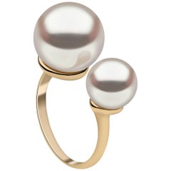 Yoko London South Sea Pearl Contemporary Ring Set in 18 Karat Yellow Gold
